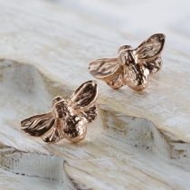 rose gold bee studs