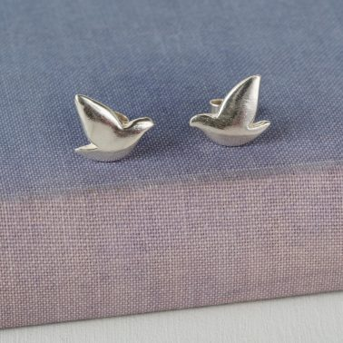 sterling silver dove studs