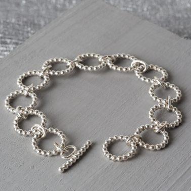 sterling silver bubbles bracelet