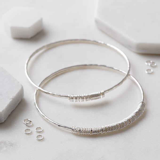 personalised rings bangle