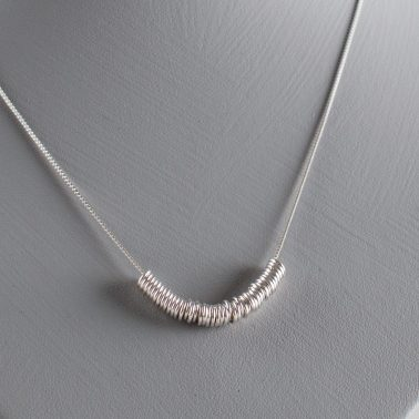 sterling silver rings necklace