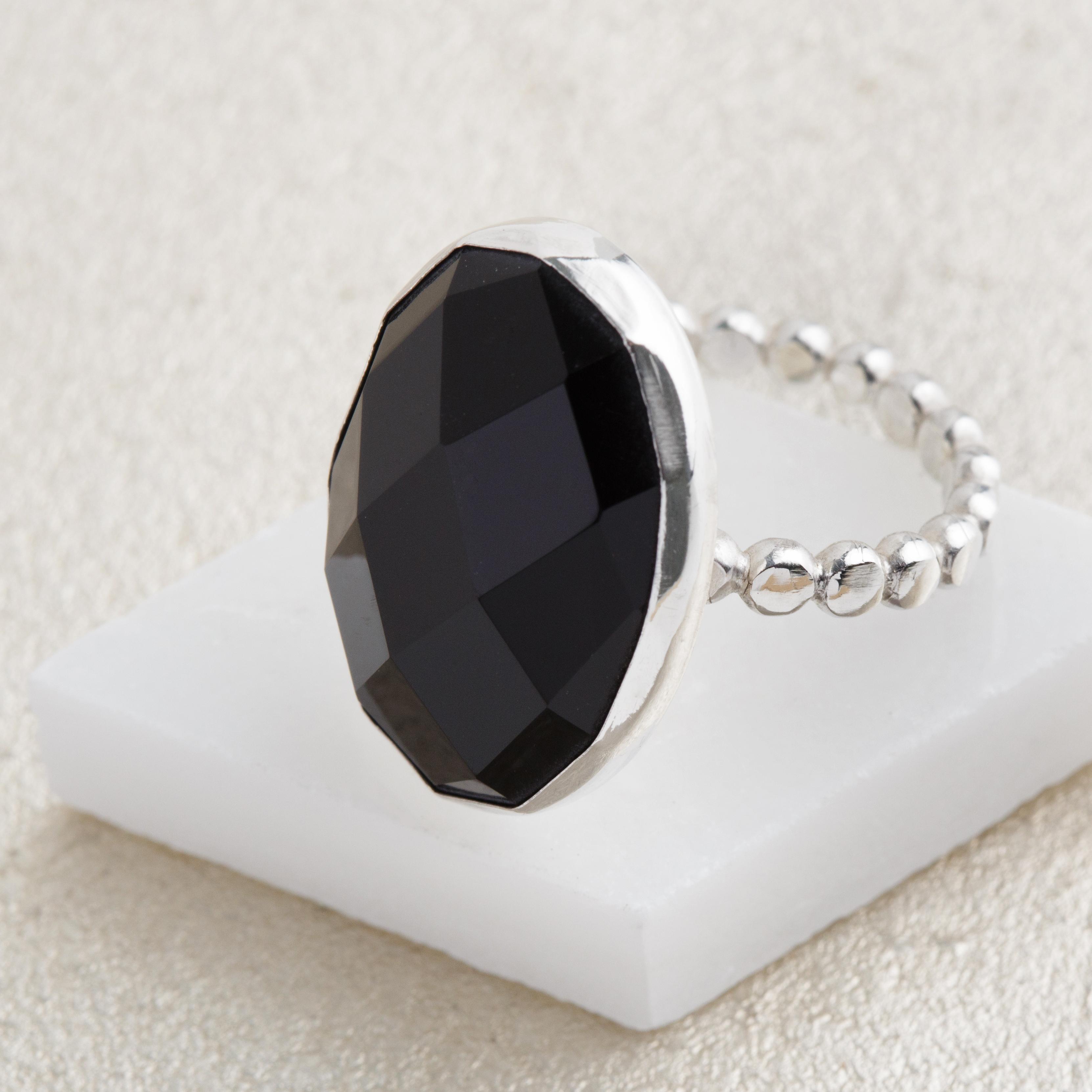 black cocktail ring
