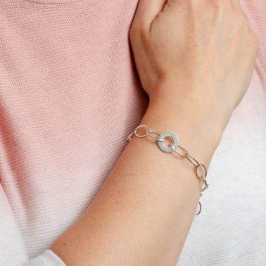 personalised engraved silver bracelet