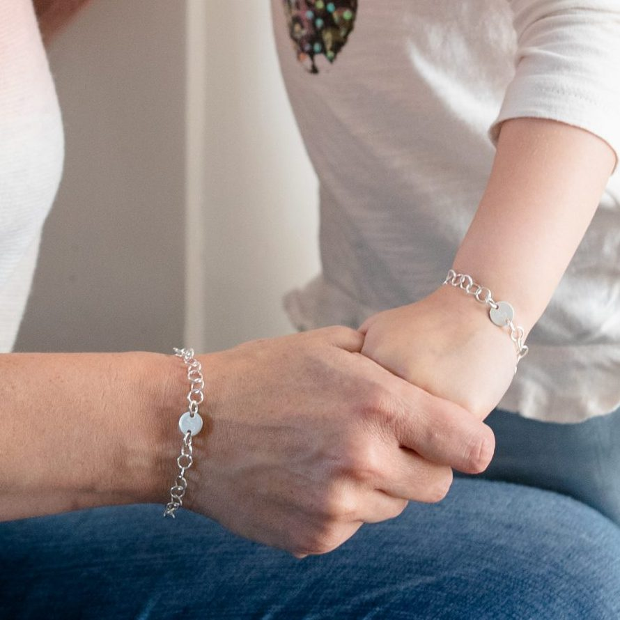 Mum and Daughter bracelet set
