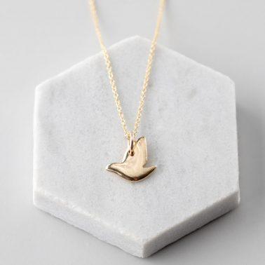 9ct Gold Dove pendant